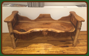 Carved Walnut bench